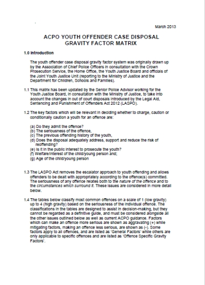 Gravity Factors Youth